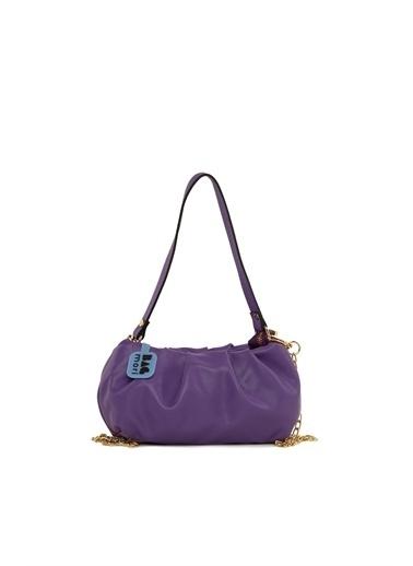 Bagmori  Kadın Pilili Mini Askılı Çanta M000006094 Mor